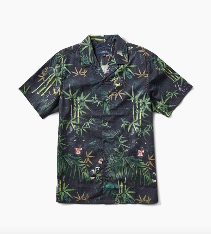 ROARK Jungle Attack S/S Button Up Black MENS APPAREL - Men's Short Sleeve Button Up Shirts Roark Revival