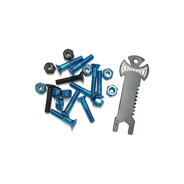 INDEPENDENT Phillips 1in With Tool Blue/Black Skateboard Hardware