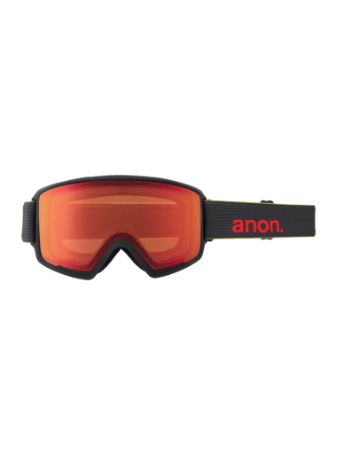 ANON M3 Black Pop - Perceive Sunny Red + Perceive Cloudy Burst + Facemask Snow Goggle GOGGLES - Anon Goggles Anon