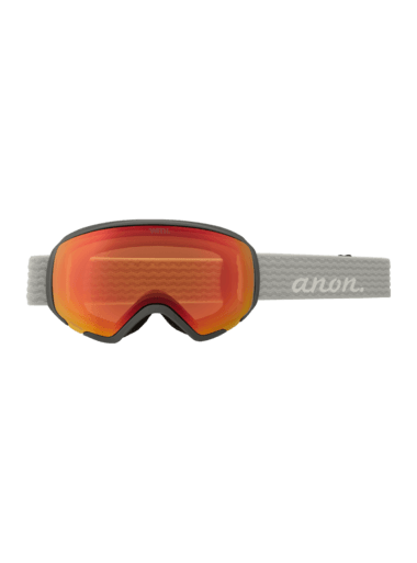 ANON WM1 Grey - Perceive Sunny Red + Perceive Cloudy Burst + MFI Facemask Snow Goggle GOGGLES - Anon Goggles Anon