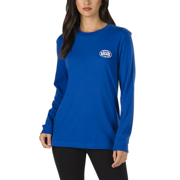 VANS Junction Long Sleeve Boyfriend T-Shirt Women's Surf The Web WOMENS APPAREL - Women's Long Sleeve T-Shirts Vans