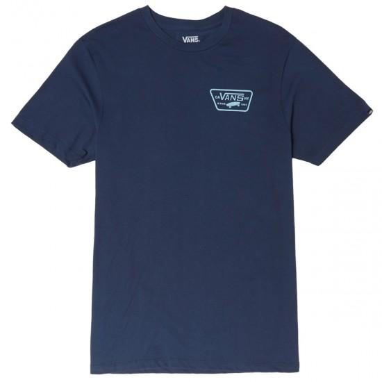 VANS Full Patch Back T-Shirt Dress Blues/Cameo Blue MENS APPAREL - Men's Short Sleeve T-Shirts Vans M