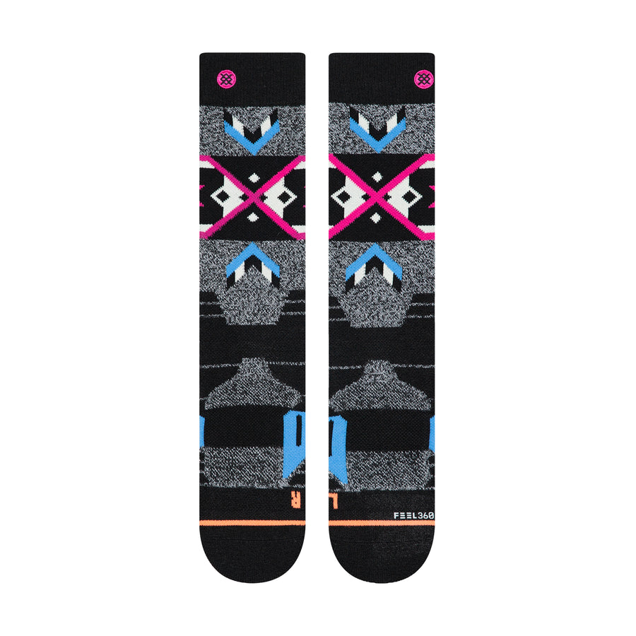 STANCE Nordic Maze Women's Snow Socks Grey SNOWBOARD ACCESSORIES - Women's Snowboard Socks Stance