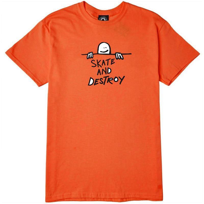 THRASHER Gonz Sad Logo T-Shirt Orange MENS APPAREL - Men's Short Sleeve T-Shirts Thrasher