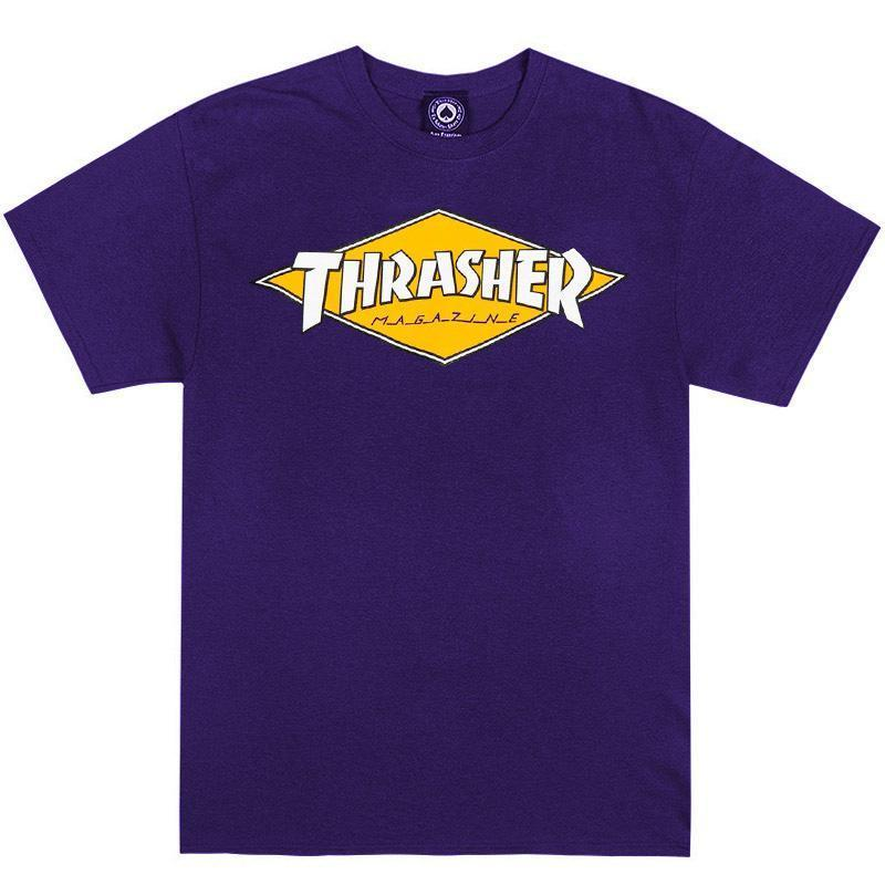 THRASHER Diamond Logo T-Shirt Purple MENS APPAREL - Men's Short Sleeve T-Shirts Thrasher