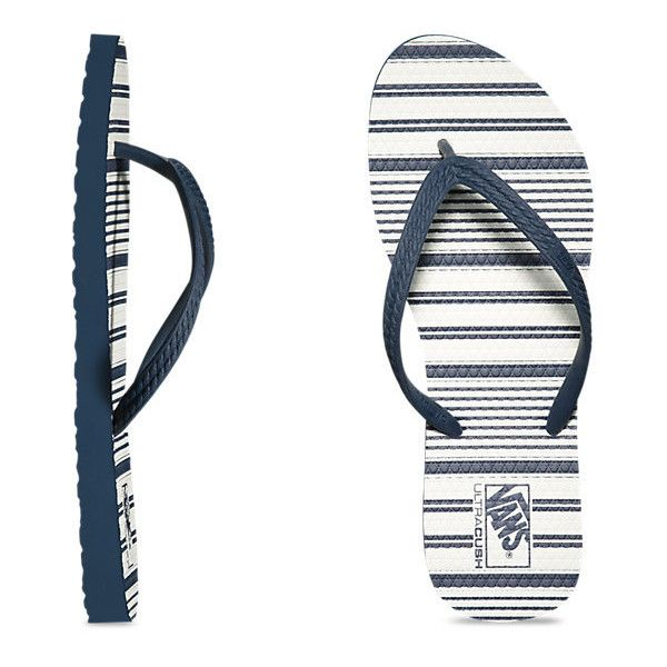 VANS Hanelei Multi Stripe Sandals Womens Dress Blue FOOTWEAR - Women's Sandals Vans