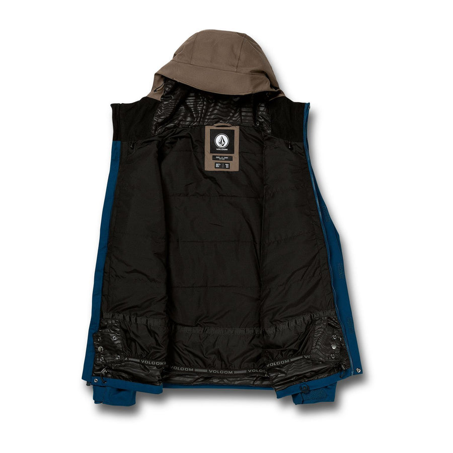 VOLCOM Scortch Insulated Snowboard Jacket Blue 2021 MENS OUTERWEAR - Men's Snowboard Jackets Volcom