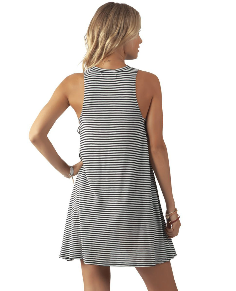 RIP CURL Surf Essentials Tank Dress Black/White WOMENS APPAREL - Women's Dresses Rip Curl