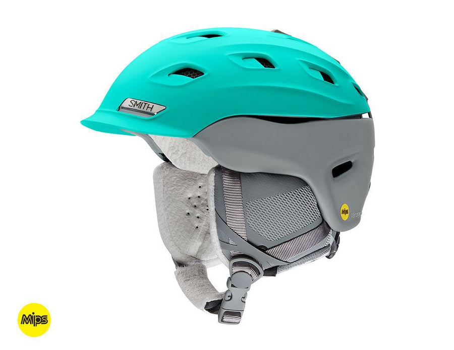 SMITH Vantage MIPS Snow Helmet Women's Matte Opal/Cloudgrey 2019 SNOWBOARD ACCESSORIES - Women's Snowboard Helmets Smith