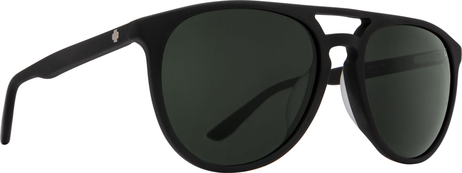 SPY Syndicate Matte Black - Happy Grey Green Sunglasses