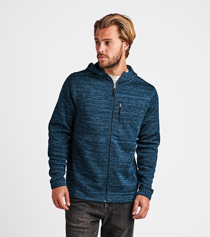 ROARK Roadrunner Performance Zip Hoodie Ink MENS APPAREL - Men's Zip Hoodies Roark Revival L