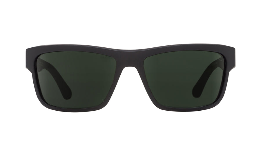 SPY Frazier Matte Black - Happy Grey Green Sunglasses
