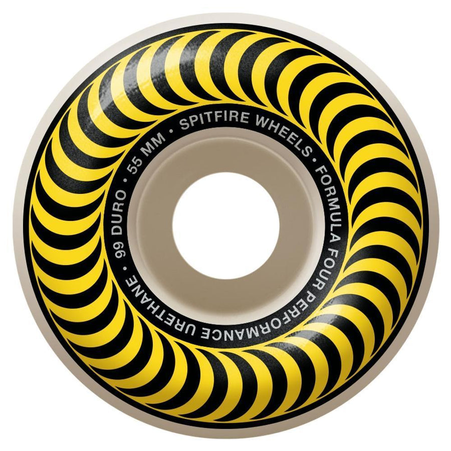 SPITFIRE Formula Four 99D Classics Yellow 55mm Skateboard Wheels