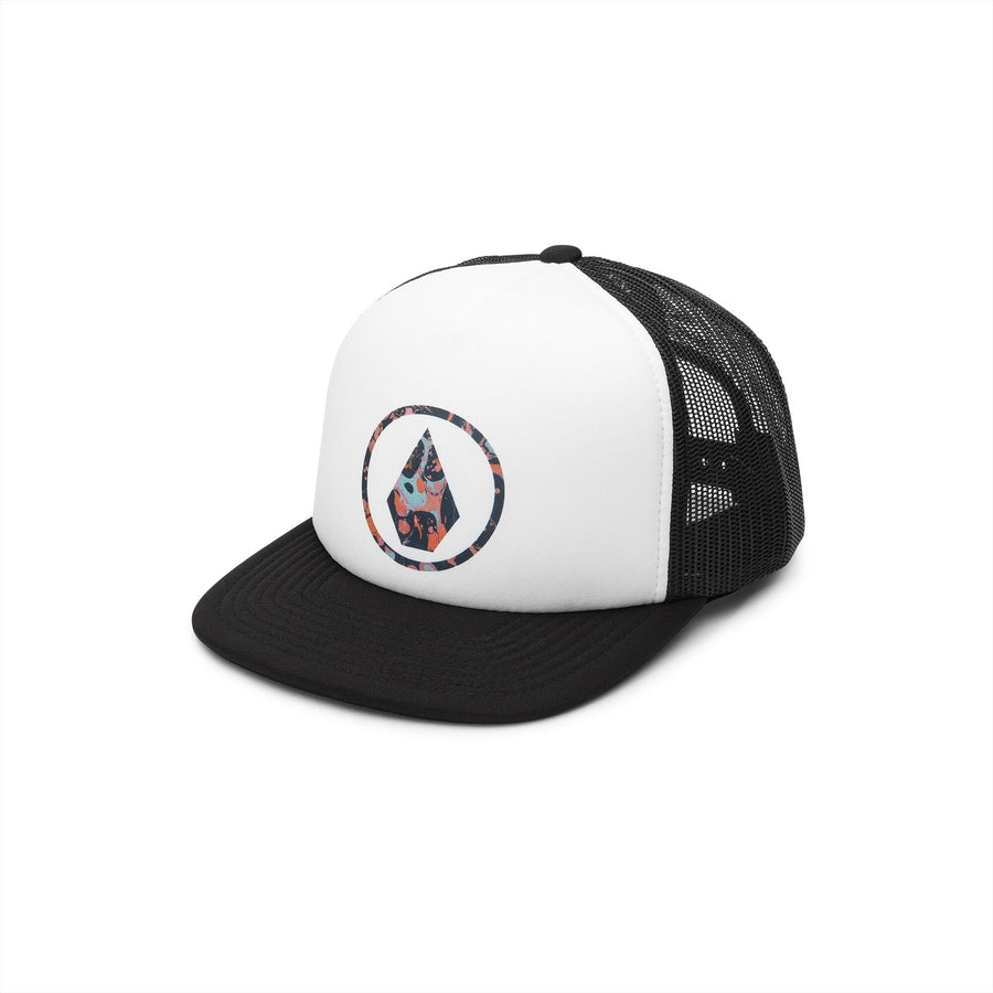 VOLCOM Stone Marble Cheese Trucker Hat Youth Black