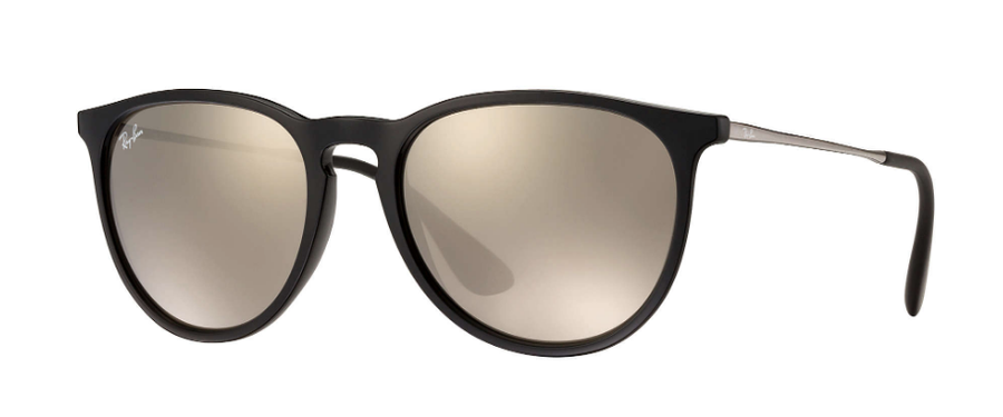 RAY-BAN Erika Color Mix Black/Gunmetal - Gold Mirror Sunglasses