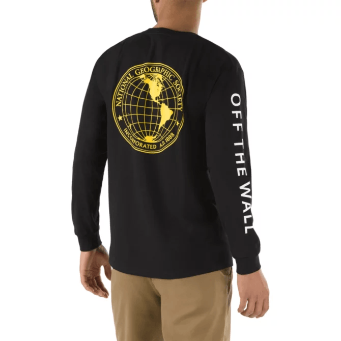 VANS X NATIONAL GEOGRAPHIC L/S T-Shirt Black/Nat Geo MENS APPAREL - Men's Long Sleeve T-Shirts Vans