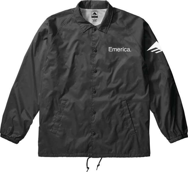 EMERICA Undercover Coached Jacket Black MENS APPAREL - Men's Street Jackets Emerica