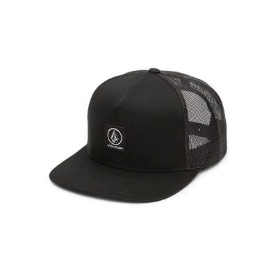VOLCOM Box Stone Cheese Snapback Trucker Hat Black MENS ACCESSORIES - Men's Baseball Hats Volcom