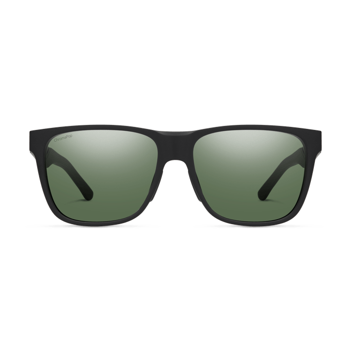 SMITH Lowdown Steel Matte Black Ruthenium - ChromaPop Grey Green Polarized Sunglasses SUNGLASSES - Smith Sunglasses Smith
