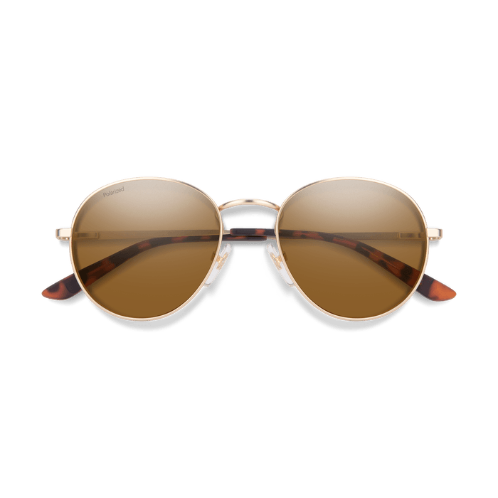 SMITH Prep Matte Gold - ChromaPop Brown Polarized Sunglasses SUNGLASSES - Smith Sunglasses Smith