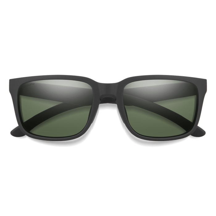 SMITH Headliner Matte Black - ChromaPop Grey Green Polarized Sunglasses SUNGLASSES - Smith Sunglasses Smith