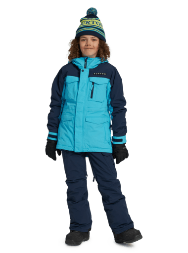 BURTON Covert Snowboard Jacket Boys Cyan 2021 YOUTH INFANT OUTERWEAR - Youth Snowboard Jackets Burton