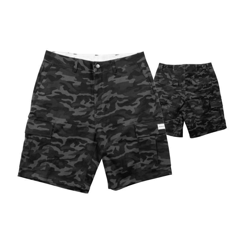 RDS Peacemaker Cargo Shorts Black Camo