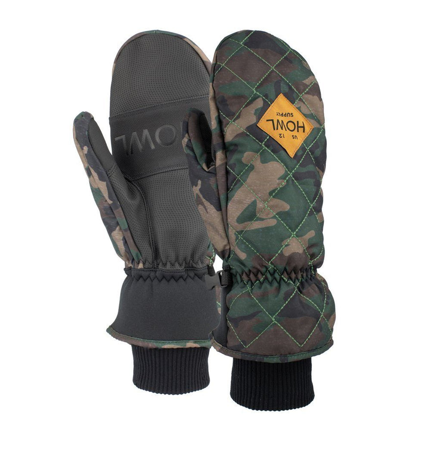 HOWL Jed Snow Mitt Camo WINTER GLOVES - Men's Snowboard Gloves and Mitts Howl