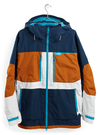BURTON Frostner Snowboard Jacket Dress Blue/True Penny/Stout White 2021 MENS OUTERWEAR - Men's Snowboard Jackets Burton
