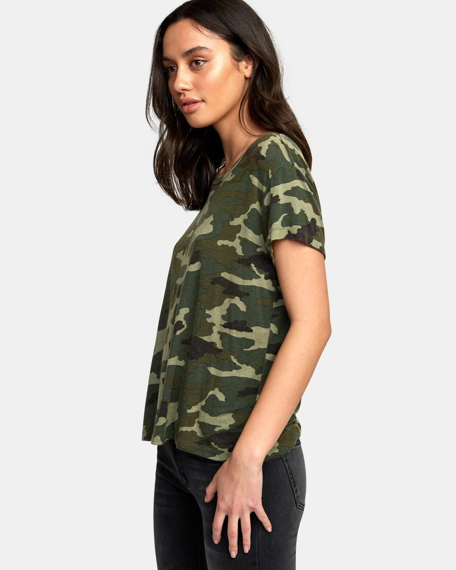 RVCA Suspension 3 Knit T-Shirt Women's Camo