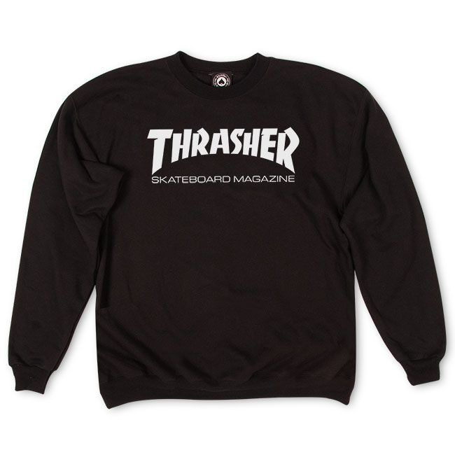 THRASHER Skate Mag Crew Black MENS APPAREL - Men's Sweaters and Sweatshirts Thrasher