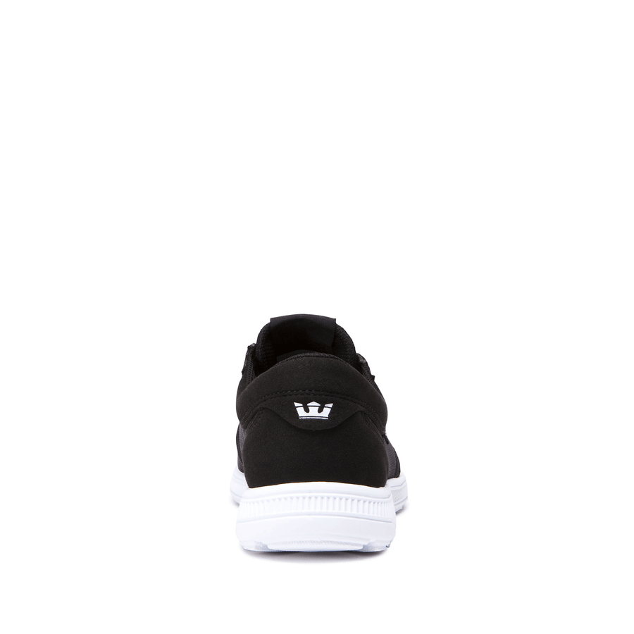 SUPRA Hammer Run Shoes Black/White/White FOOTWEAR - Men's Skate Shoes Supra