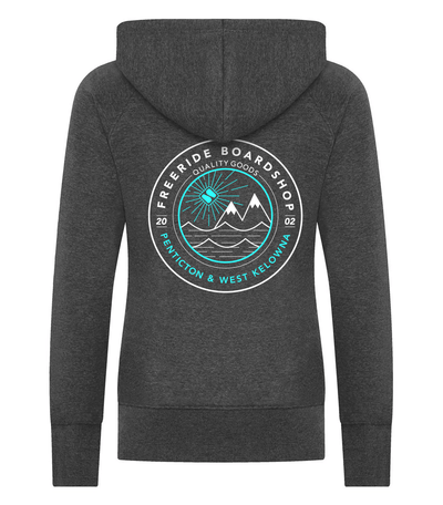 FREERIDE Okanagan Badge Pullover Hoodie Women's Vintage Black WOMENS APPAREL - Women's Pullover Hoodies Freeride