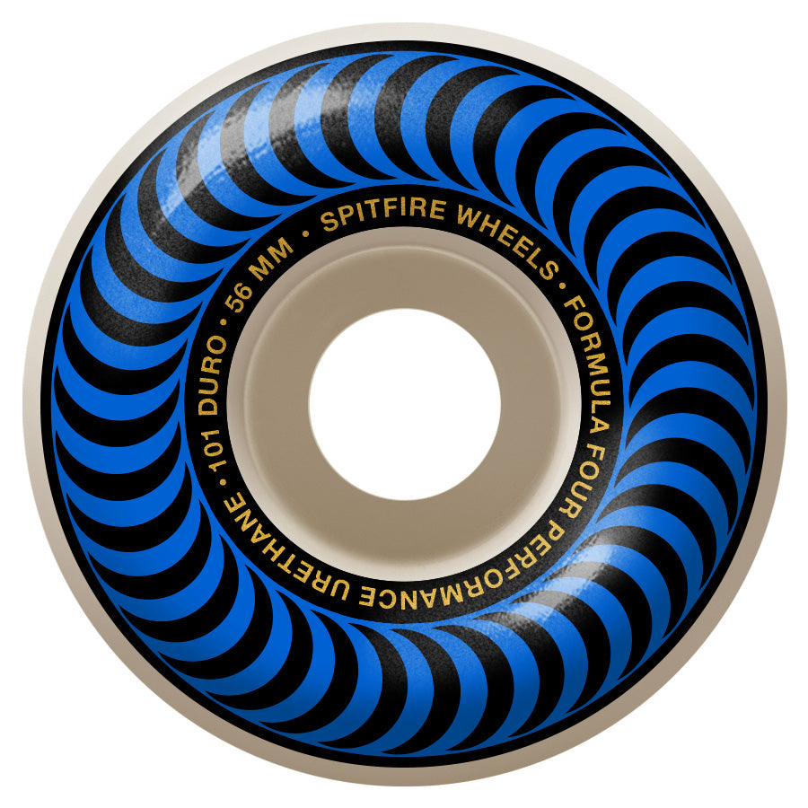 SPITFIRE Formula Four 101D Classics Blue 56mm Skateboard Wheels