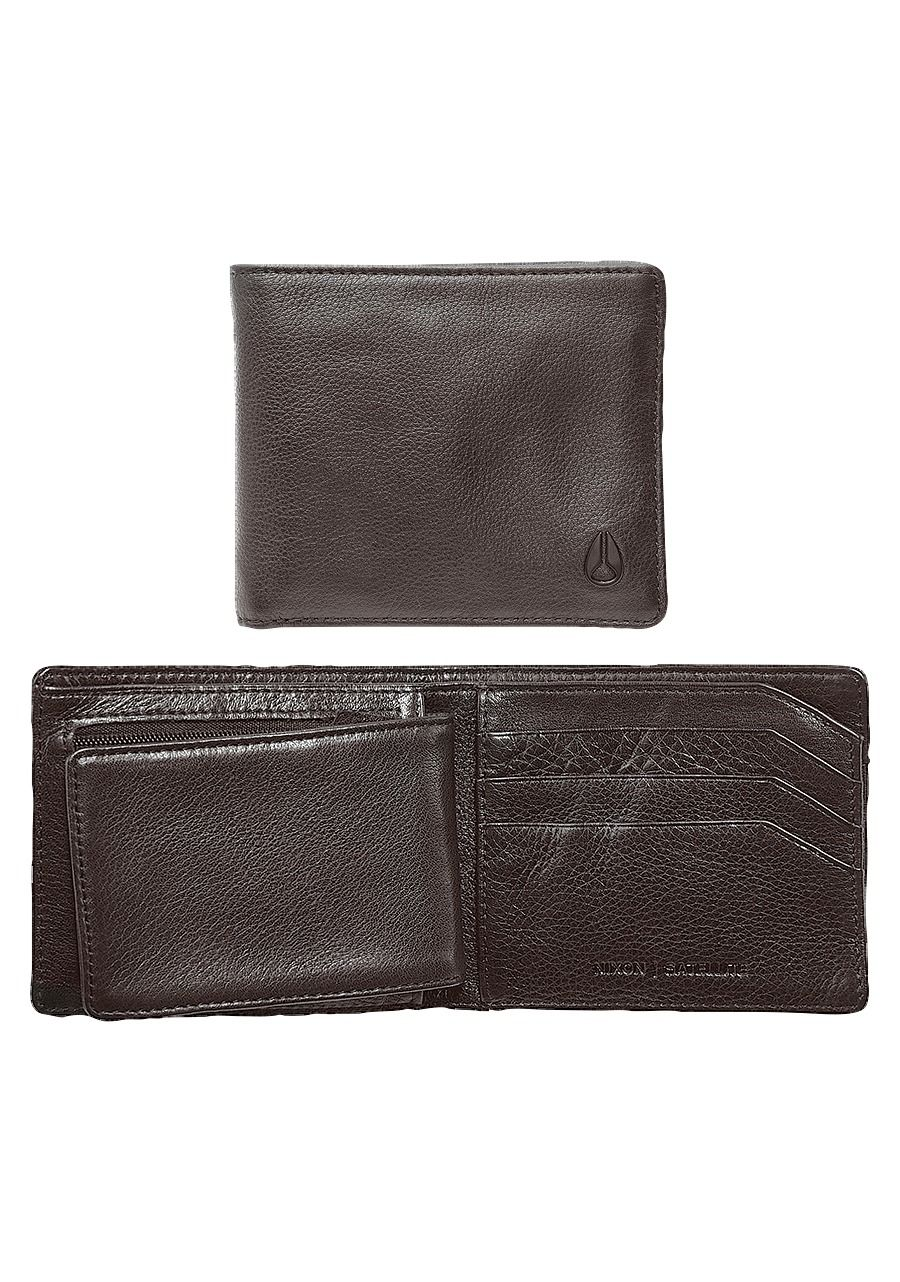 NIXON Satellite Big Bill Bi-Fold ID Coin Wallet Brown