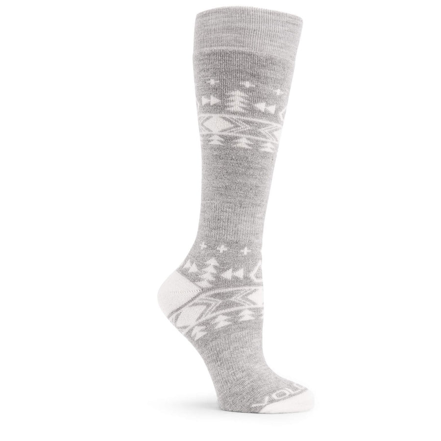 VOLCOM Tundra Tech Snowboard Socks Women's Heather Grey SNOWBOARD ACCESSORIES - Women's Snowboard Socks Volcom