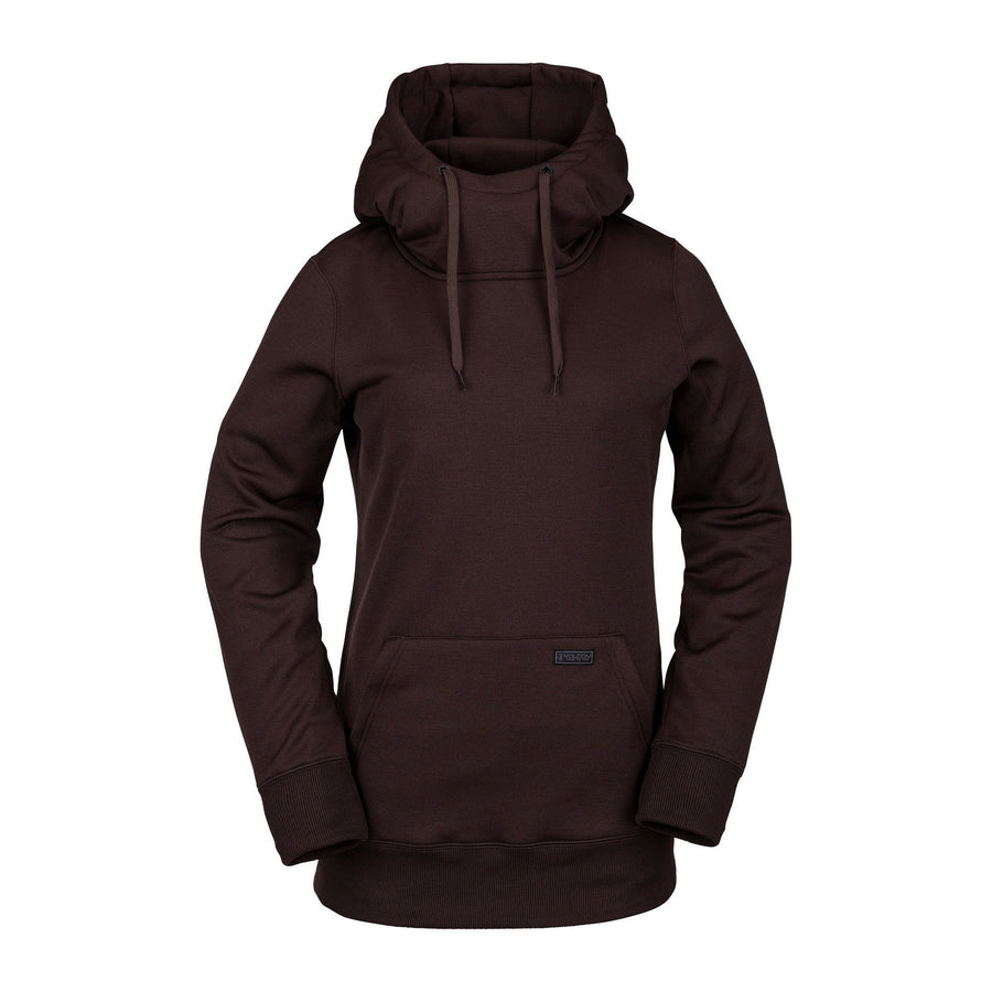 VOLCOM Yerba Pullover Hoodie Women's Black Red WOMENS APPAREL - Women's Pullover Hoodies Volcom