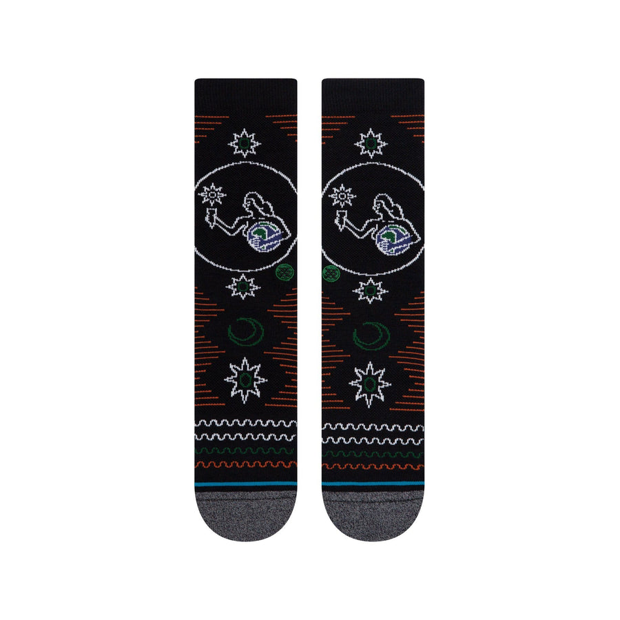 STANCE Maloney Socks Black MENS ACCESSORIES - Men's Socks Stance