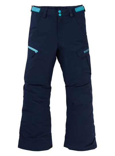 BURTON Exile Cargo Snowboard Pants Boys Dress Blue 2020