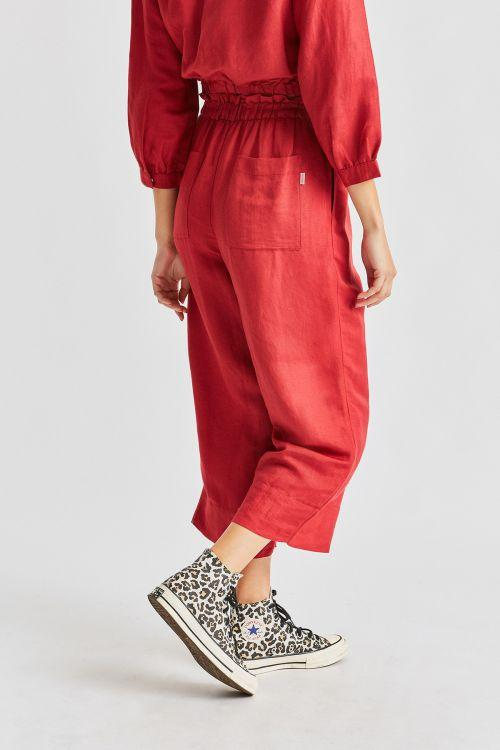 BRIXTON Luna Pants Women's Lava Red WOMENS APPAREL - Women's Pants Brixton