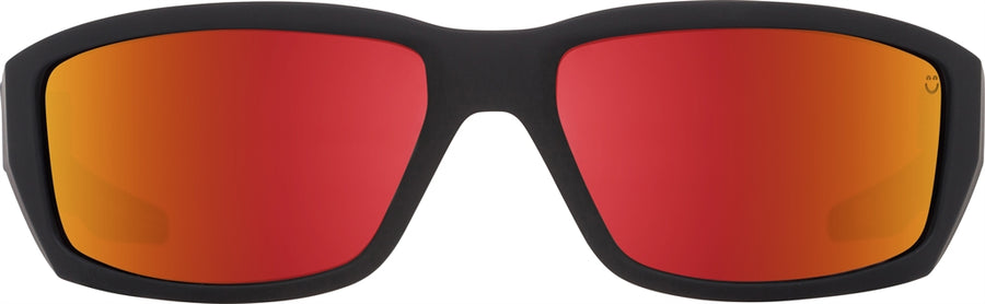 SPY Dirty Mo Soft Matte Black - Happy Rose w/ Red Spectra Sunglasses