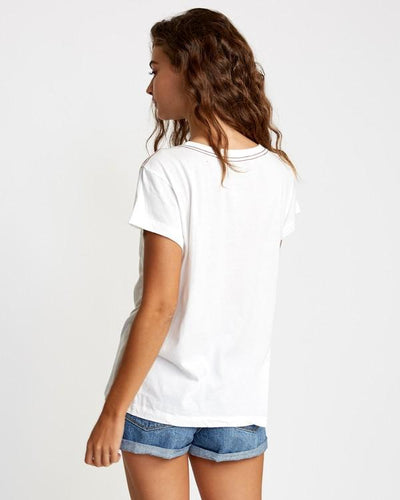 RVCA Flow Relaxed T-Shirt Vintage White WOMENS APPAREL - Women's T-Shirts RVCA