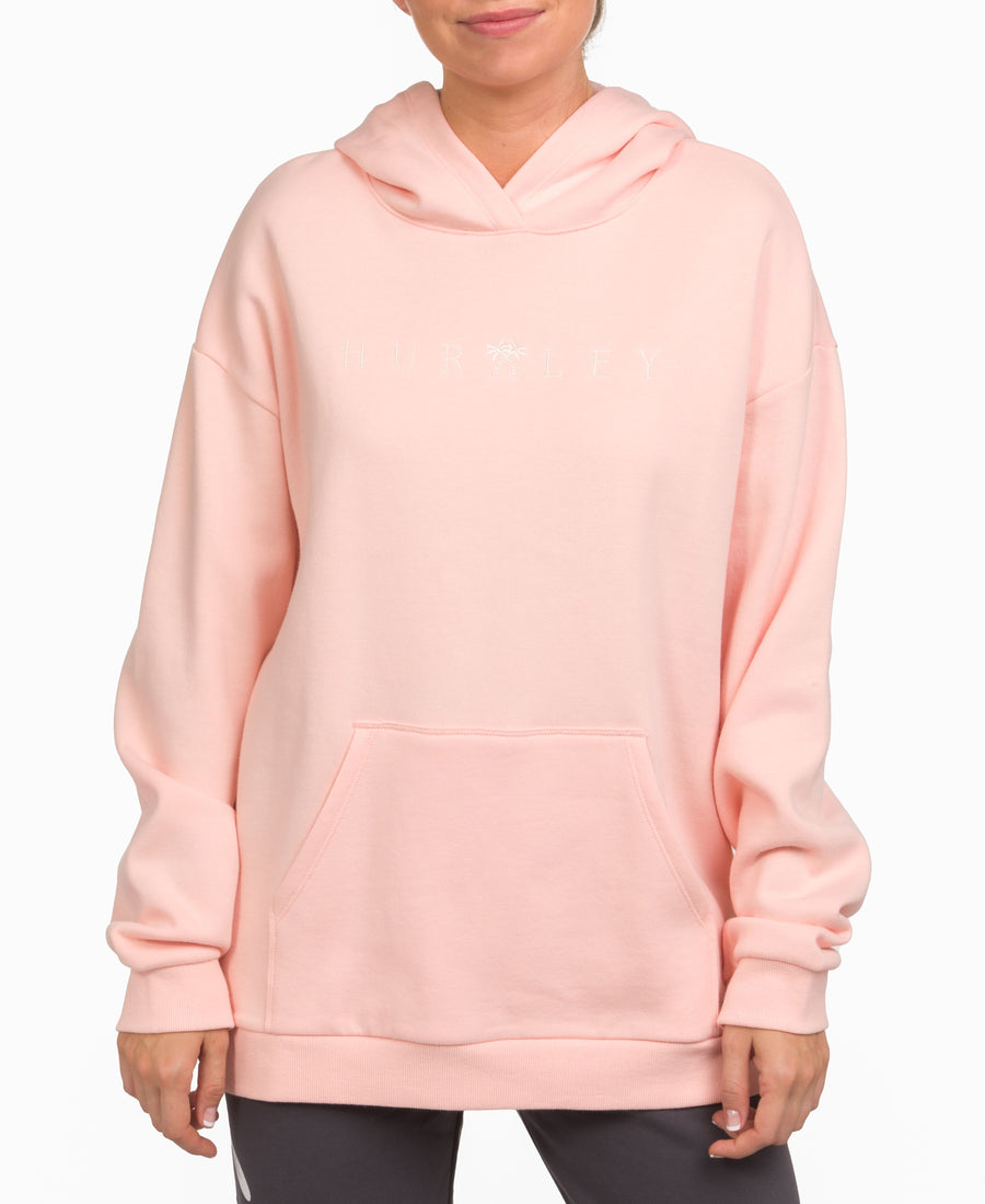 HURLEY Crossover Perfect Pullover Hoodie Women's Washed Coral WOMENS APPAREL - Women's Pullover Hoodies Hurley
