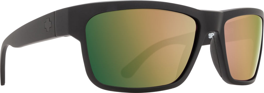 1958c9b4ba SPY Frazier Soft Matte Black - Happy Rose Polarized w  Green Gold Spectra  Sunglasses