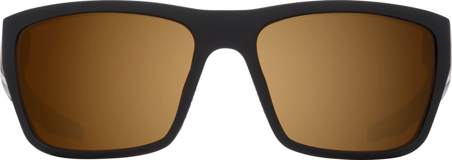 SPY Dirty Mo 2 25th Anniversary Matte Black Gold - HD Plus Bronze with Gold Spectra Mirror Sunglasses