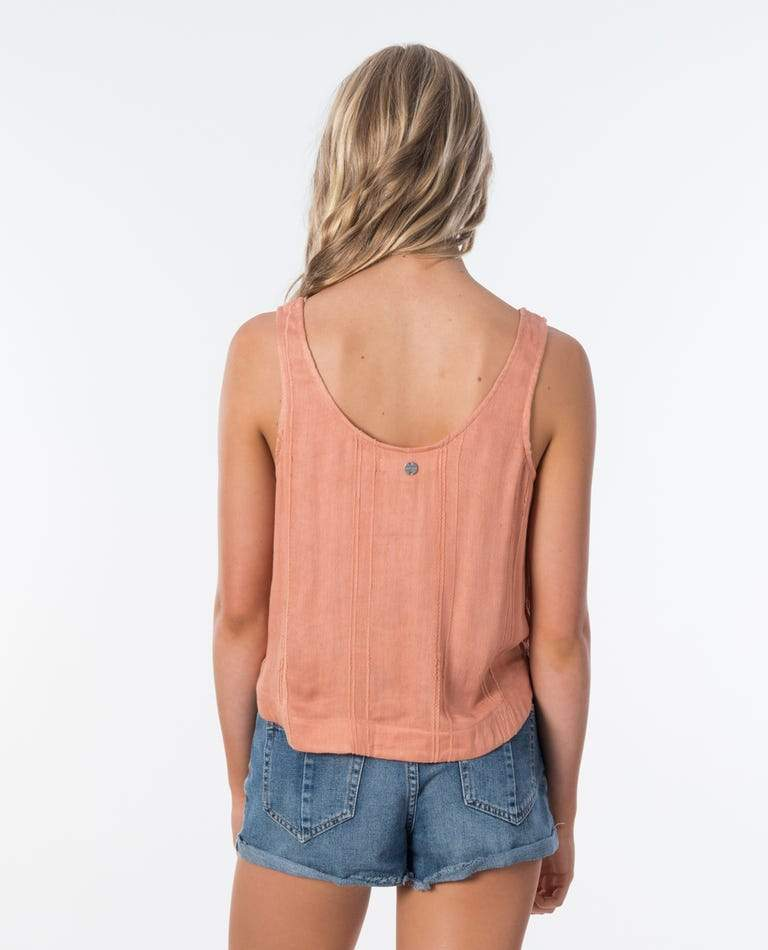 RIP CURL Sunrise Cami Women's Peach WOMENS APPAREL - Women's Tank Tops and Halter Tops Rip Curl