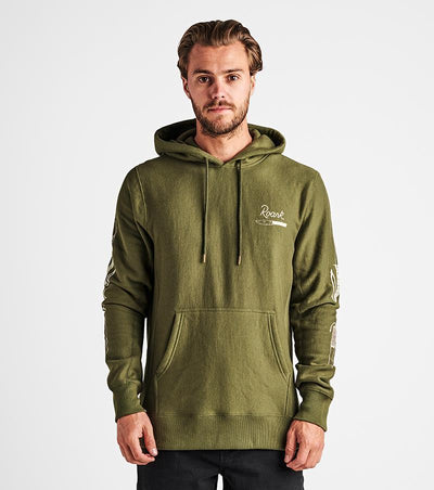 ROARK Dirk Dance Pullover Hoodie Military MENS APPAREL - Men's Pullover Hoodies Roark Revival