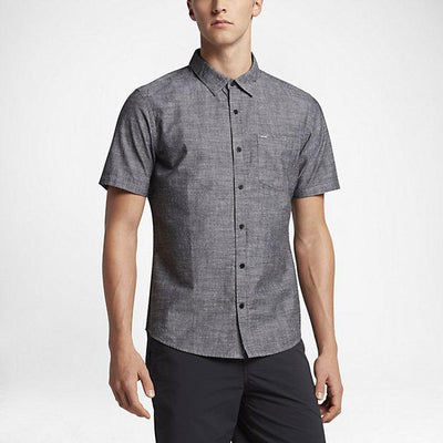 HURLEY One and Only S/S Button Up MENS APPAREL - Men's Short Sleeve Button Up Shirts Hurley BLACK L
