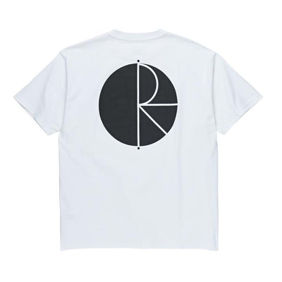 POLAR Fill Logo T-Shirt White/Black MENS APPAREL - Men's Short Sleeve T-Shirts Polar L