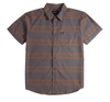 BRIXTON Charter Stripe S/S Woven Button Up Shirt Charcoal/Copper